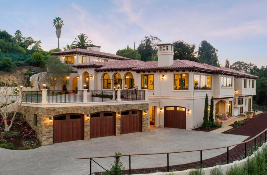 Newly built mediterranean style estate in palo alto for California mediterranean style homes