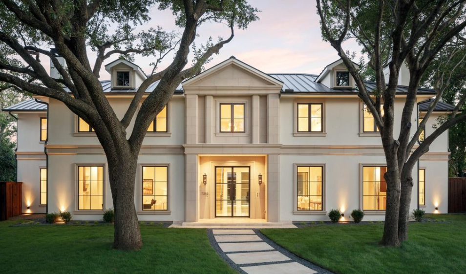 Stone And Stucco Homes Texas : Newly built stone stucco home in dallas texas homes