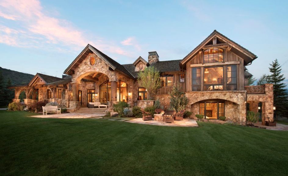 Wood Amp Stone Mansion On 60 Acres In Snowmass Village