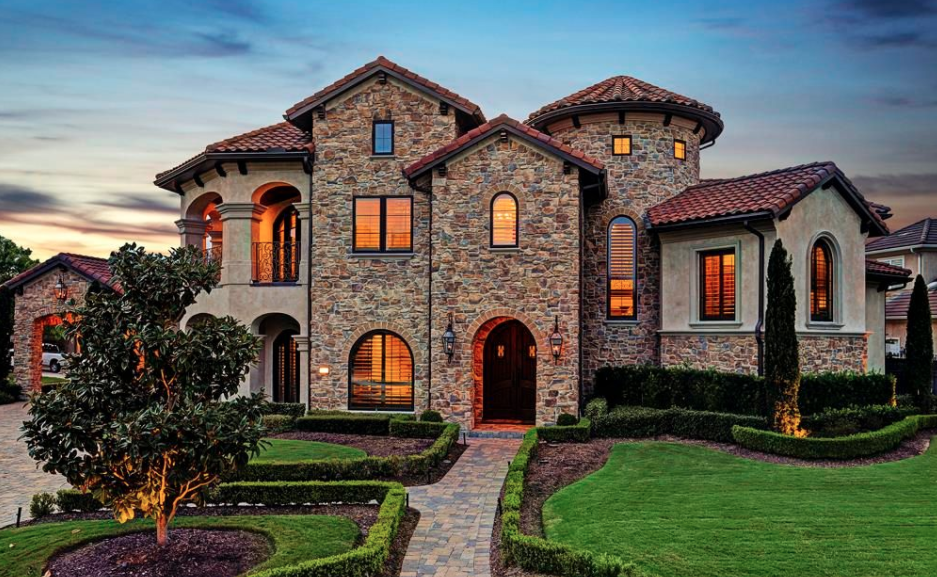 Tuscan style home in houston texas homes of the rich for Tuscan style homes australia