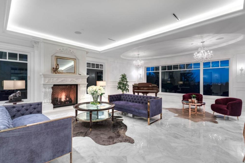 12 000 square foot newly built mansion in west vancouver for 10 foot living room