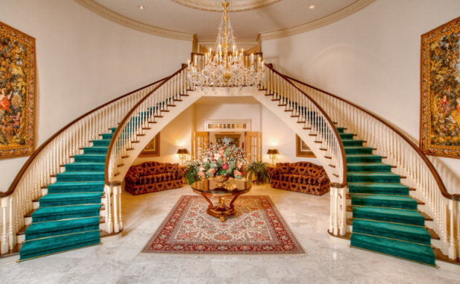 30 Impressive Double Staircases Photos Homes Of The Rich