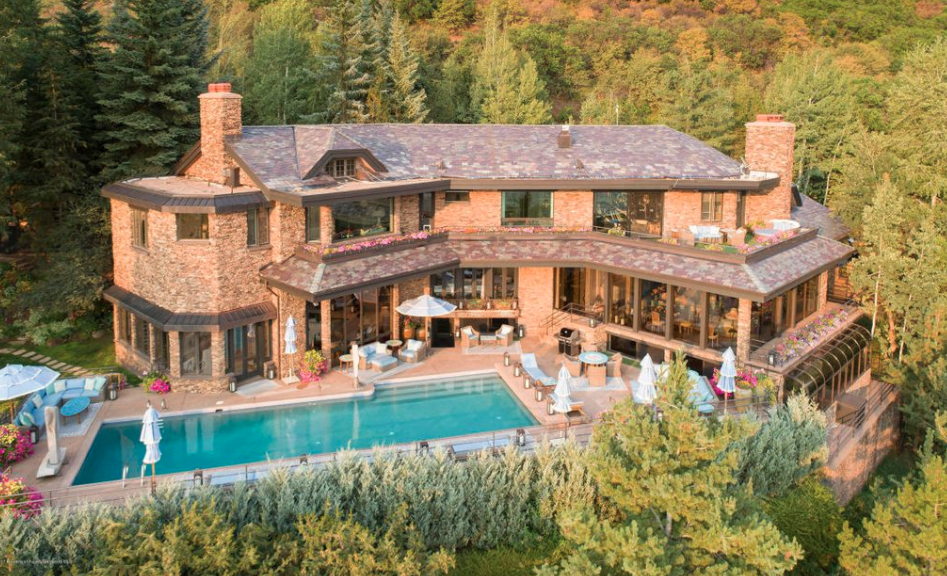 Admirable 27 Million Mountaintop Stone Home In Aspen Colorado Download Free Architecture Designs Ferenbritishbridgeorg