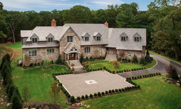 Newly Built Stone Amp Slate Mansion In Rye New York Homes