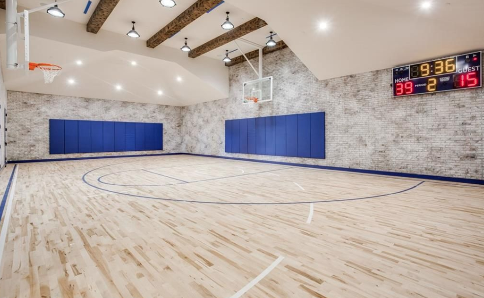 6 9 million newly built mansion in frisco texas homes for Built in basketball court