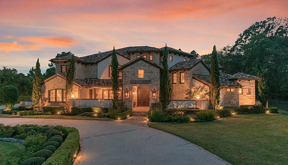 Stone Amp Stucco Home In Magnolia Texas Homes Of The Rich