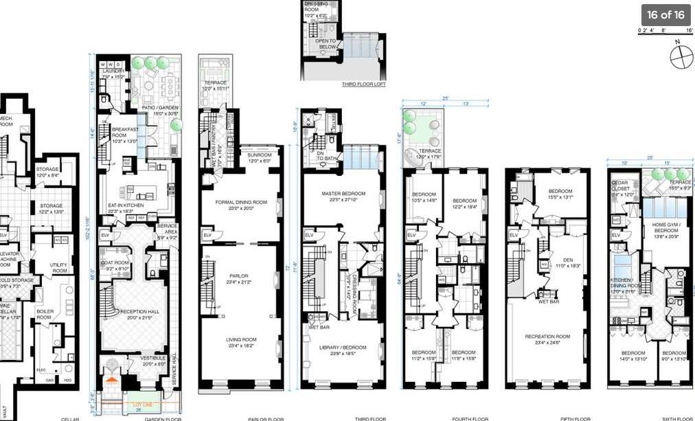 44 Million Townhouse In New York Ny Floor Plans