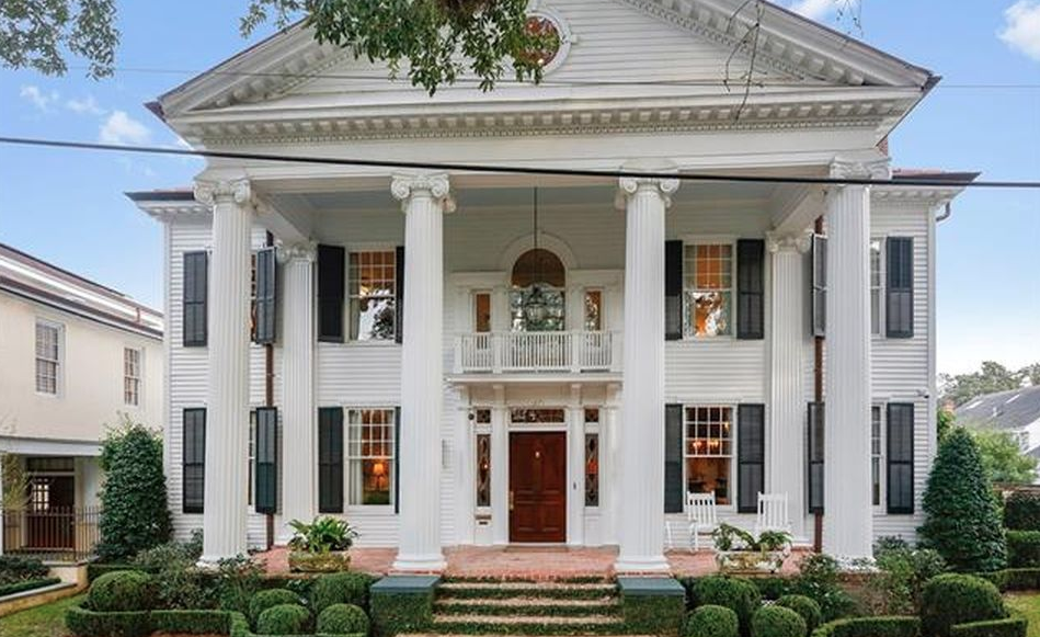 Neoclassical revival style home in new orleans louisiana for Home plans louisiana