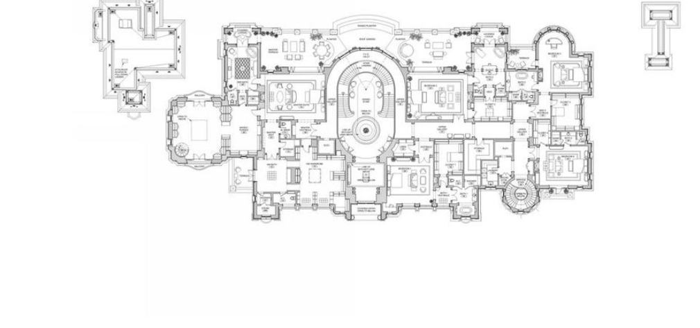 Proposed 56 000 square foot beverly hills mega mansion for Mega homes floor plans