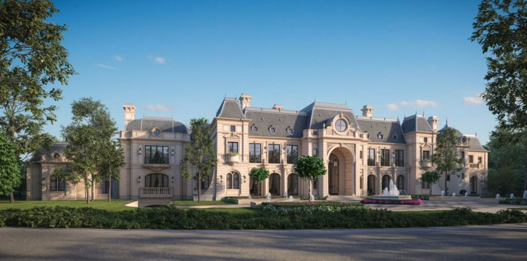 Proposed 56 000 square foot beverly hills mega mansion for Chateau home plans