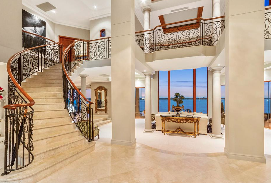 Foyer Stairs Qld : Grand waterfront mansion in queensland australia floor