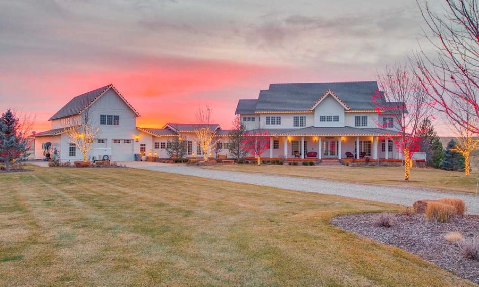 colonial style home on 10 acres in eagle  idaho