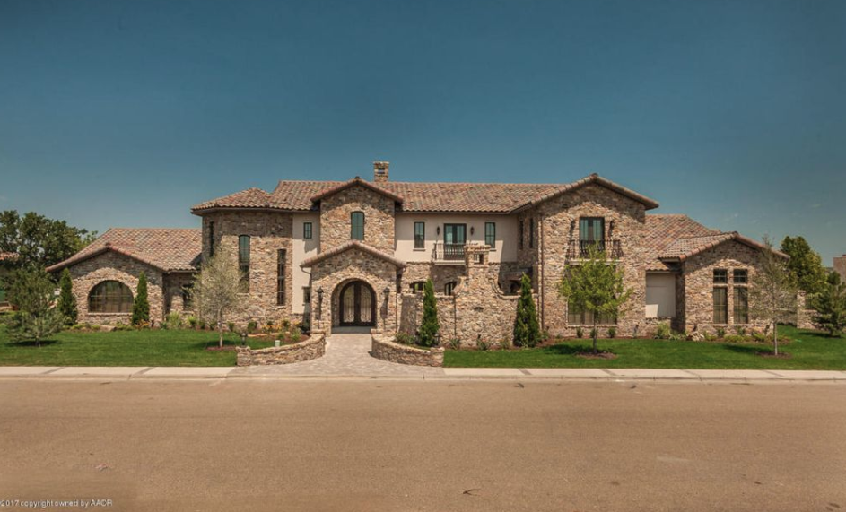 Tuscan style stone stucco home in amarillo texas for Texas tuscan homes