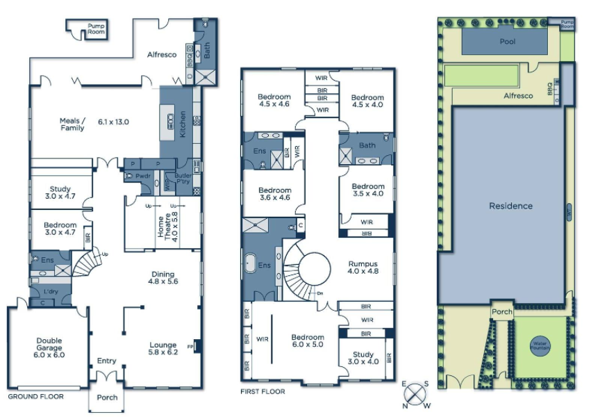 French style home in victoria australia floor plans for Floor plan in french