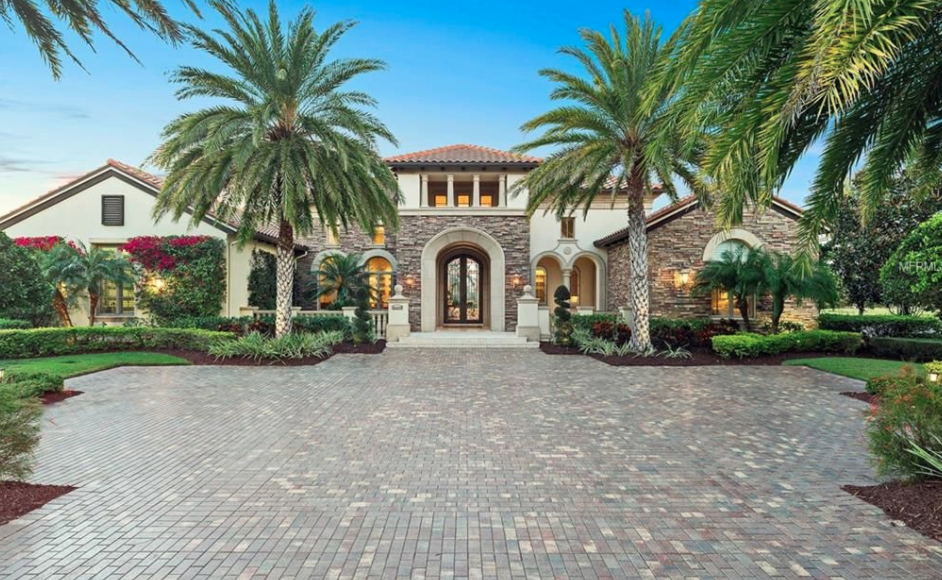 Waterfront Stone Amp Stucco Home In Lakewood Ranch Florida