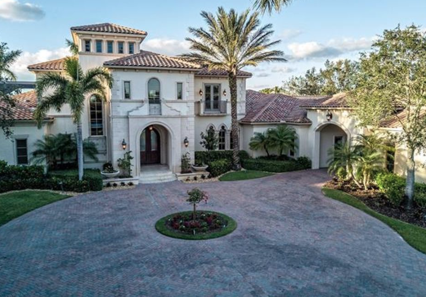 Mediterranean style home in naples florida homes of the for Florida mediterranean style homes