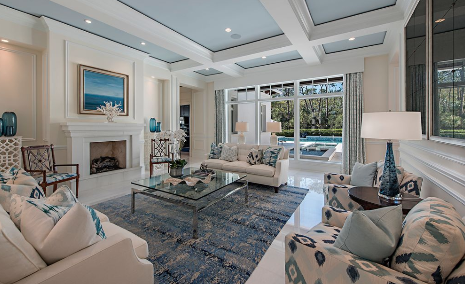 10 000 square foot home in naples florida homes of the rich for Living room square feet