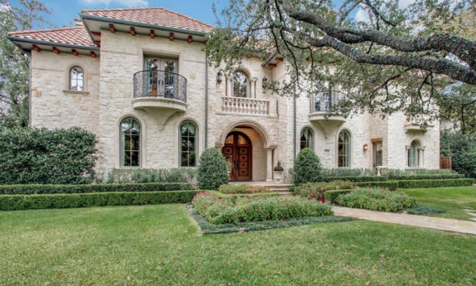 Mediterranean style stone home in dallas texas homes of for Mediterranean stone houses