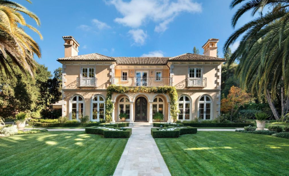 Mediterranean Style Mansion In Atherton California