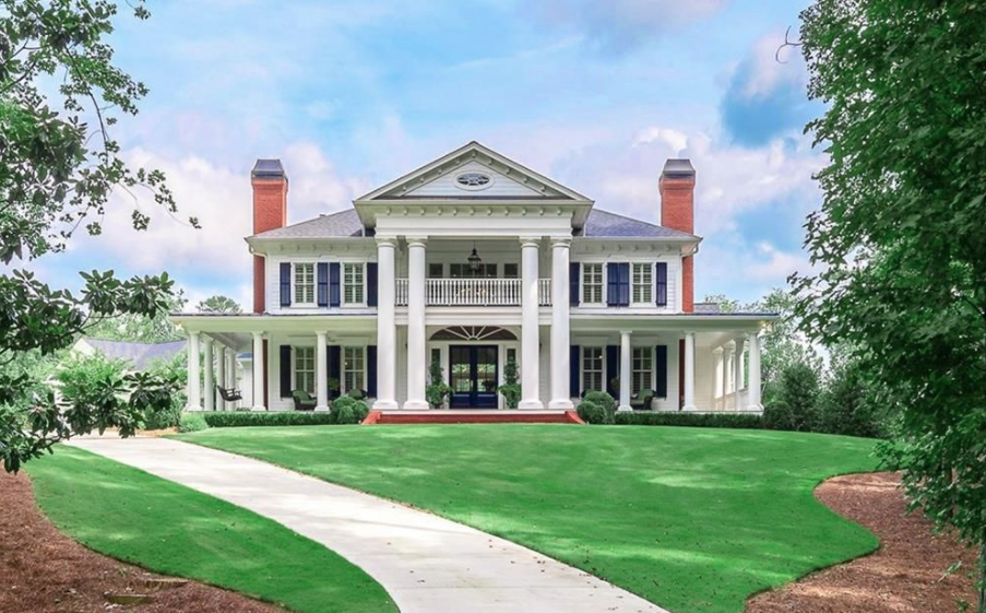 Plantation Style Mansion In Woodstock Georgia Homes Of