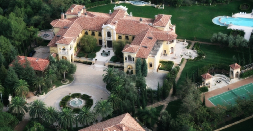 165 Million Italian Inspired Mega Mansion In Beverly Hills California Homes Of The Rich