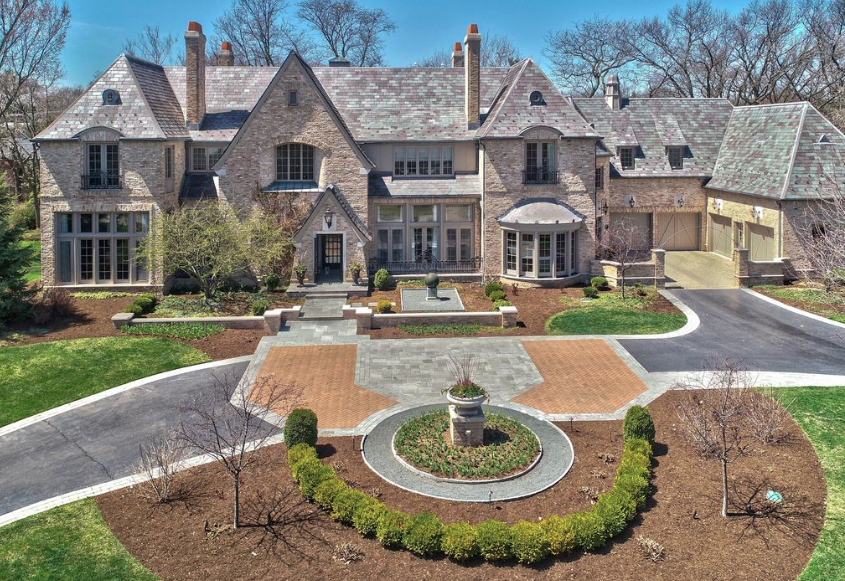 Brick Mansion In Illinois With Indoor Basketball Court Floor Plans Homes Of The Rich