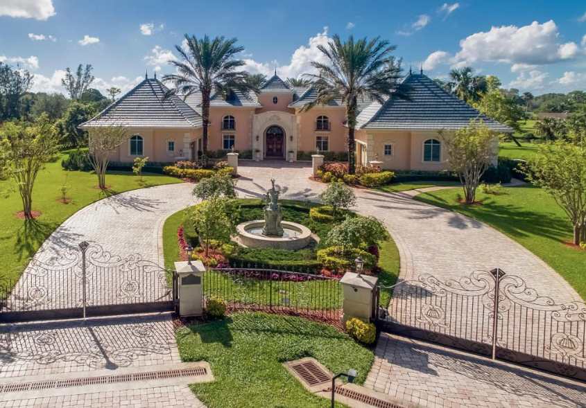 Gated Waterfront Home In Palm Beach Gardens Florida Homes Of The Rich