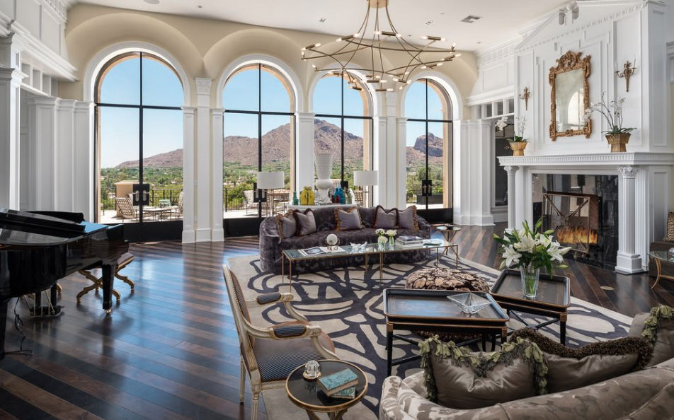 22 Million Newly Built Mansion In Paradise Valley Arizona With 20 Car Garage Homes Of The Rich