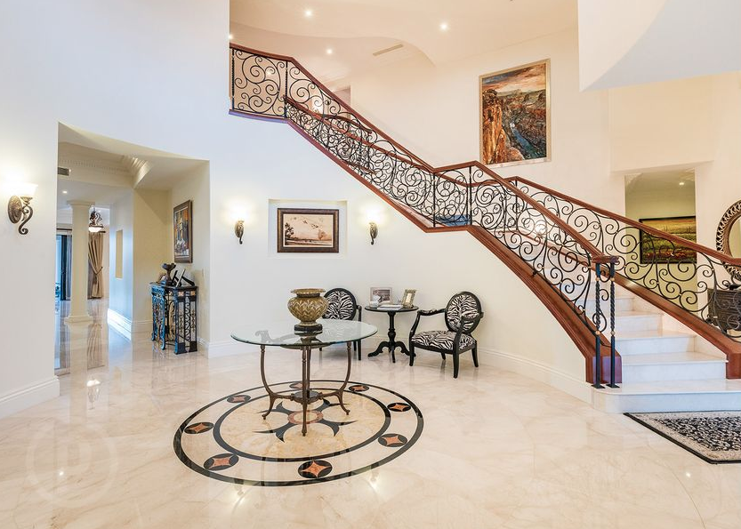 Foyer Staircase Qld : Gated waterfront home in queensland australia floor