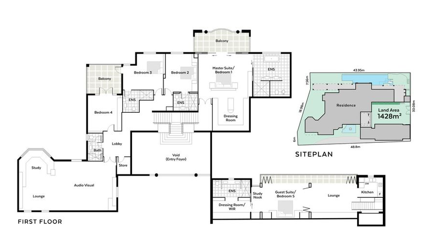 Riverfront mansion in western australia australia floor for Riverfront home plans