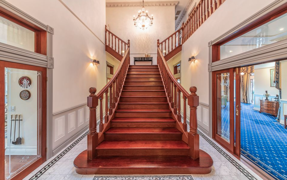 Foyer Staircase Qld : Nareke a riverfront home in queensland australia floor