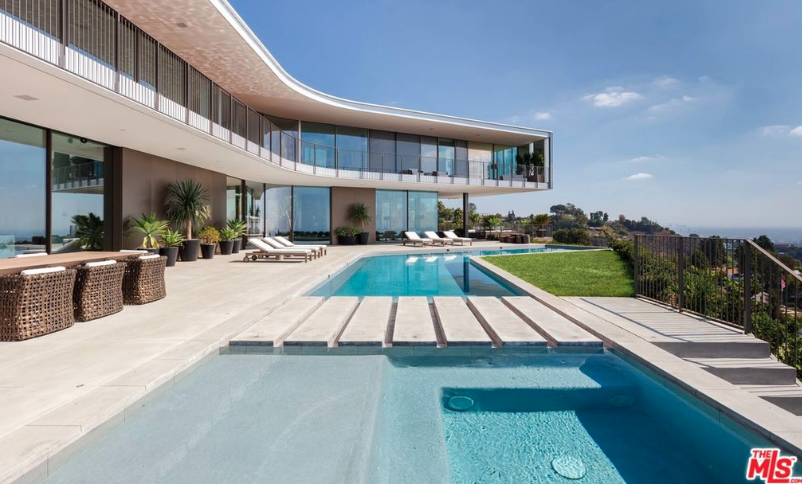56 Million Newly Built Modern Hilltop Mansion In Bel Air