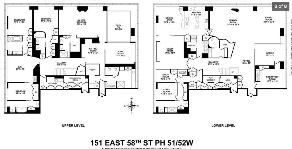 45 Million Nyc Condo With 2 Story Great Room Floor Plans