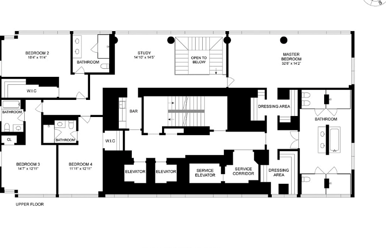 40 Million Duplex Penthouse In New York New York Floor Plans Homes Of The Rich