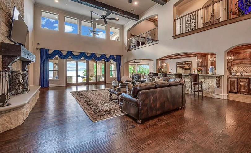 Gated Stone Lakefront Home In Heath, Texas
