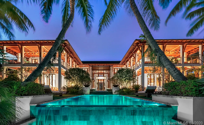 $60 million tropical style compound in coral gables