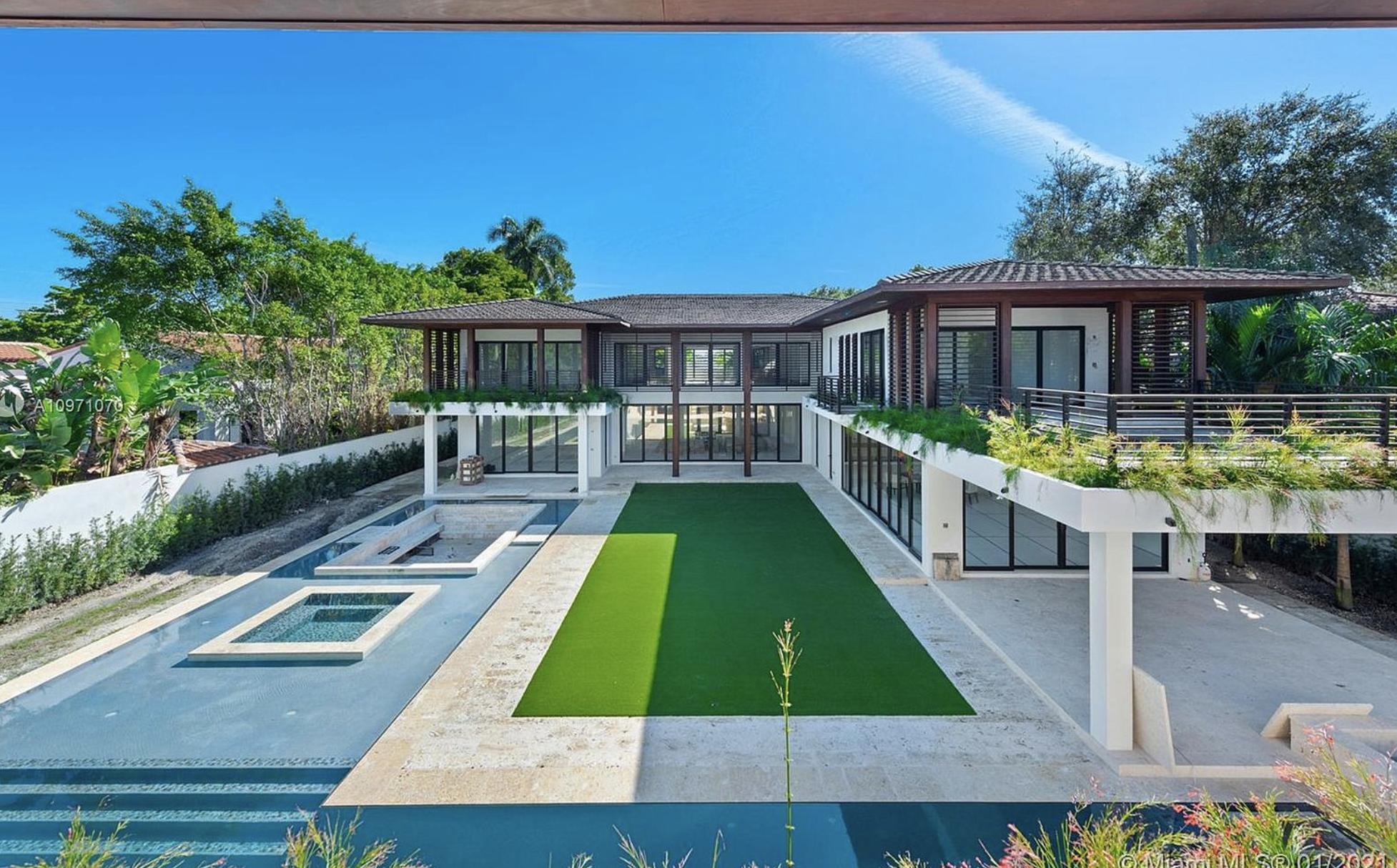 $14 Million Modern Tropical Style New Build In Miami, Florida
