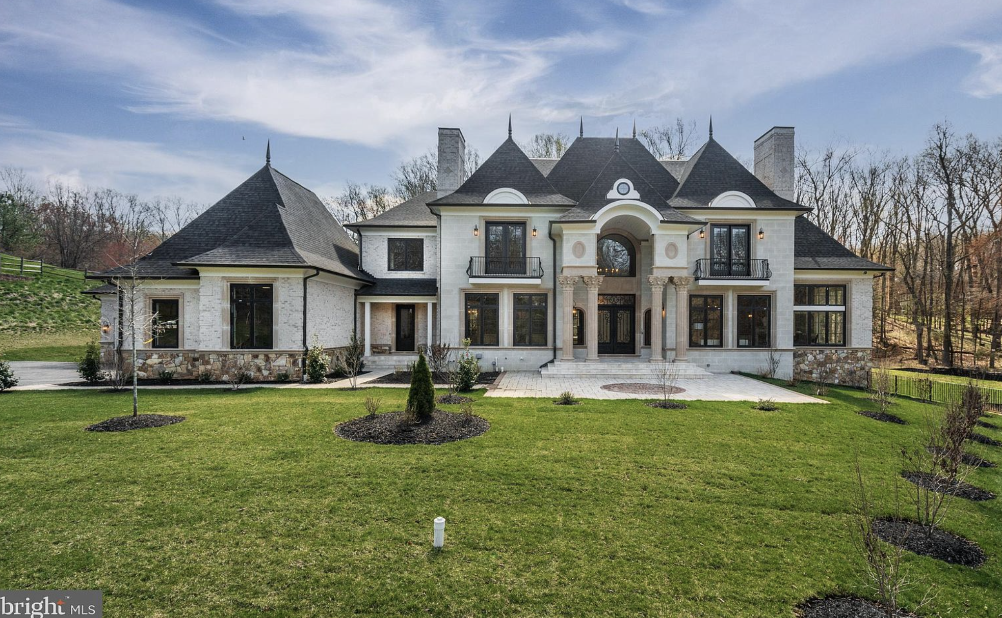 11,000 Square Foot French Style Brick New Build In McLean, Virginia